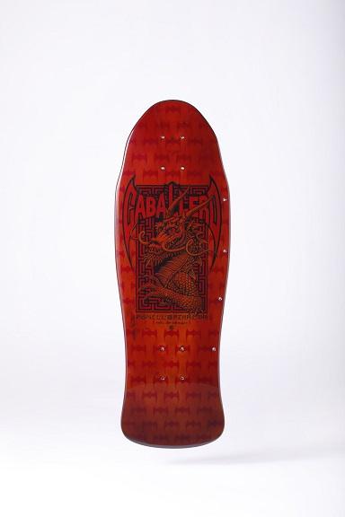 漆塗りスケートボード(表)