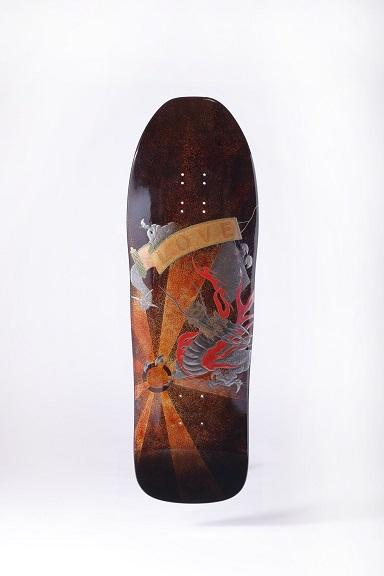 蒔絵スケートボード(表)