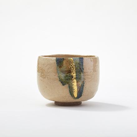 楽焼・窯変白茶碗 - 佐々木虚室