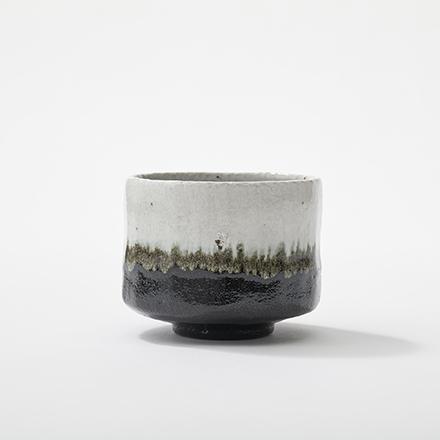 楽焼・掛け分け黒茶碗 - 佐々木虚室