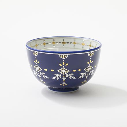 瑠璃地瓔珞文小服茶碗 - 西村徳泉