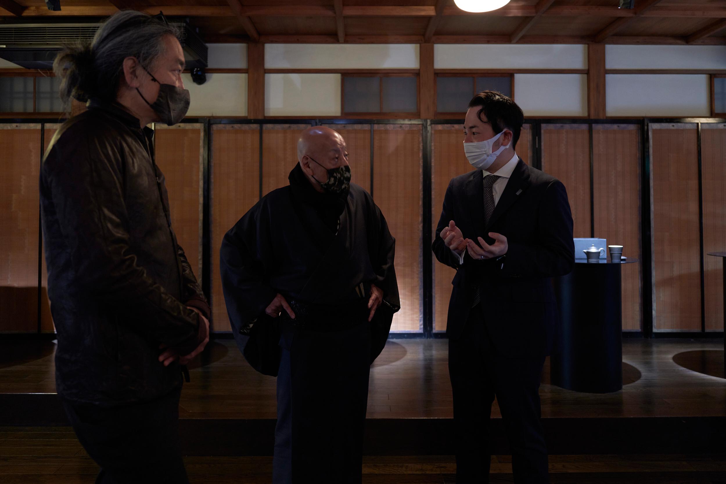 誉田屋さんとKGの仲西さんと松島社長